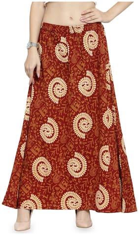 Colorblocked Ethnic Skirt