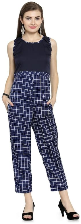 Women Checked Jumpsuit