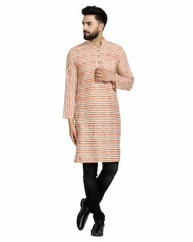 Men Striped Regular Fit Kurta