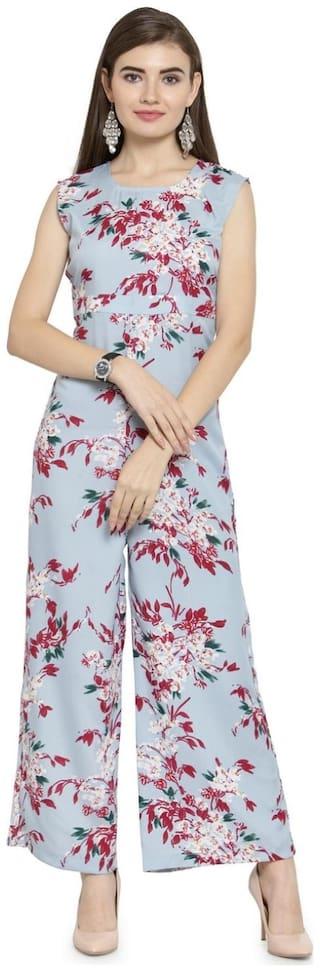 Enchanted Drapes Floral Jumpsuit - Turquoise