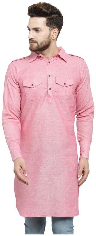 Enchanted Drapes Pink Pathani Kurta