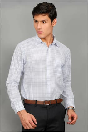 Enso Men Slim Fit Formal Shirt - Silver