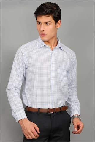 Enso Men Slim Fit Formal Shirt - Silver