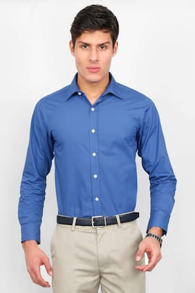 Enso Men Slim Fit Formal Shirt - Blue