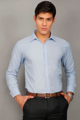 Enso Men Regular Fit Formal Shirt - Blue