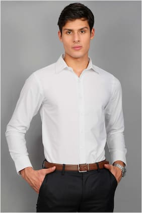 Enso Men Slim Fit Formal Shirt - White
