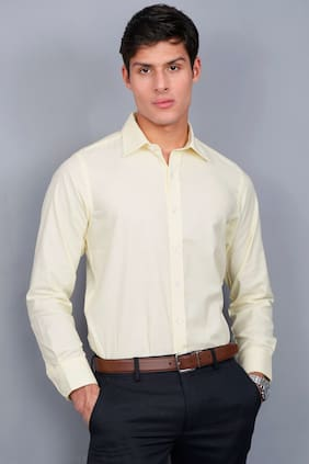Enso Men Slim Fit Formal Shirt - Yellow