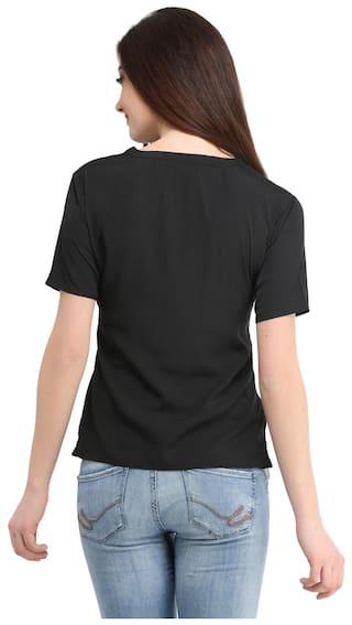 Tops ENTEASE Black Polyester bOVcgtZT