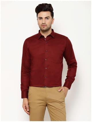 EPPE Men Slim fit Formal Shirt - Maroon