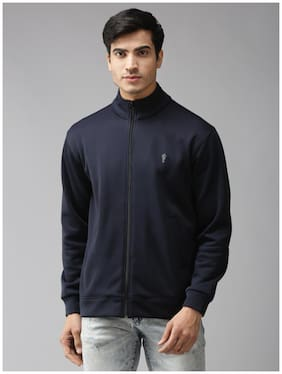 EPPE Men Blue Solid Bomber jacket