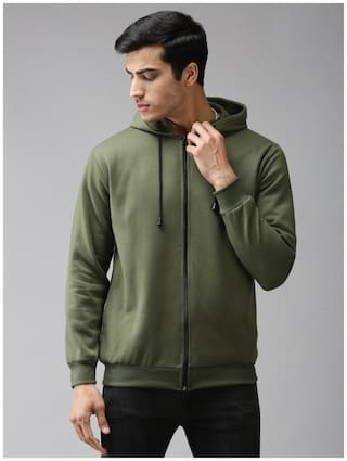 EPPE Men Green Hooded Hoodie
