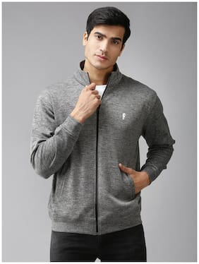 EPPE Men Grey Solid Bomber jacket