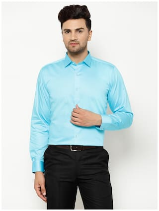 EPPE Men Slim fit Formal Shirt - Turquoise