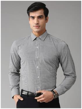 EPPE Men Slim fit Formal Shirt - Black & White