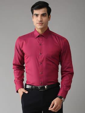 EPPE Men Slim fit Formal Shirt - Red