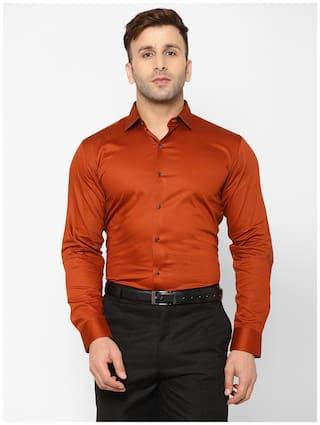 EPPE Men Slim fit Formal Shirt - Orange