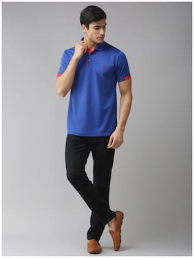 EPPE Men Blue Regular fit Polyester Polo collar T-Shirt - Pack Of 1