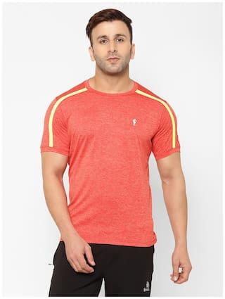 EPPE Men Orange Regular fit Polyester Round neck T-Shirt - Pack Of 1