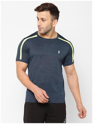 EPPE Men Navy blue Regular fit Polyester Round neck T-Shirt - Pack Of 1