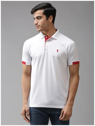 EPPE Men White Regular fit Polyester Polo collar T-Shirt - Pack Of 1