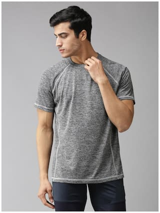 EPPE Men Grey Regular fit Polyester Round neck T-Shirt - Pack Of 1