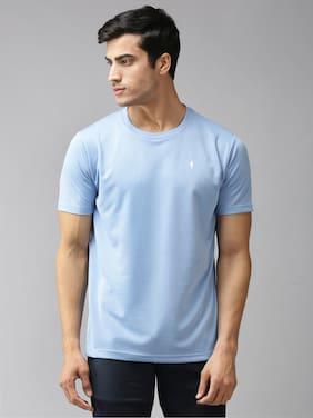 EPPE Men Blue Regular fit Polyester Round neck T-Shirt - Pack Of 1
