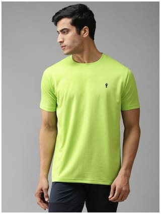 EPPE Men Green Regular fit Polyester Round neck T-Shirt - Pack Of 1