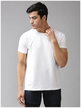 EPPE Men White Regular fit Polyester Round neck T-Shirt - Pack Of 1