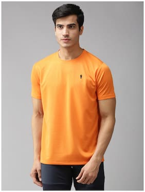 EPPE Men Orange Regular fit Polyester Round neck T-Shirt - Pack Of 1