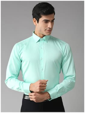 EPPE Men Green Solid Slim Fit Casual Shirt