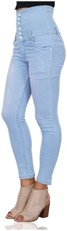 ESSENCE JEANS Women Skinny fit Mid rise Solid Jeans - Blue