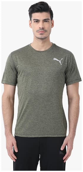 Puma Men Round Neck Sports T-Shirt - Grey