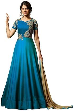 Women Solid Festive Gown