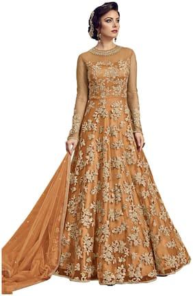 Women Net Dress Material Pack of 1