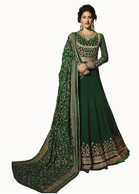 Women Embroidered Festive Gown
