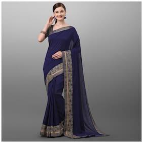 Polyester Assam Silk Saree