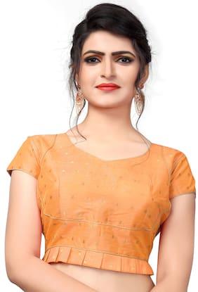 Ethnic Yard Malbari Light Orange Extra Sleeve With Blouse