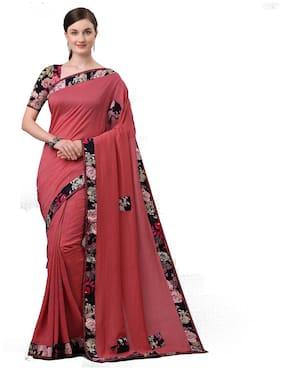 Polyester Chanderi Saree