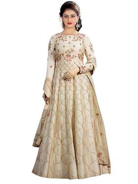 Women Silk Dress Material Pack of 1