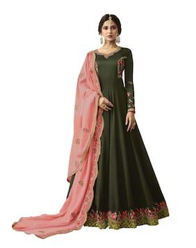 Women Printed Festive;Wedding Gown