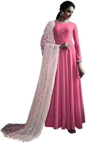 Women Embroidered Wedding Gown