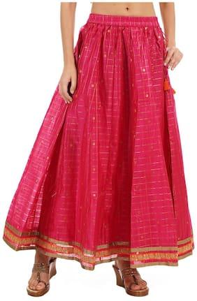 Checked Ethnic Skirt Pack of 1