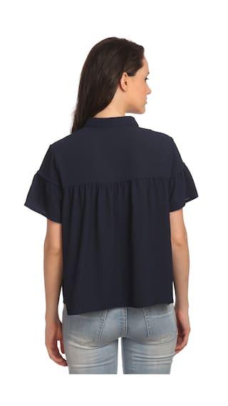 Mos Regular Blue Bon shirt KAI LSST S Bon 182 ETRU IwUqEE