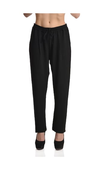 Etru Women's Casual Pleated Trousers With Elasticated Waist (ltrs_153_soffie_l)