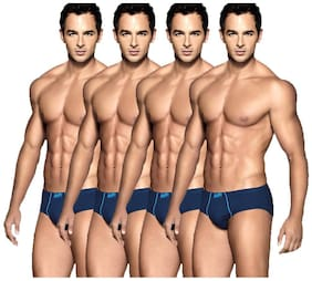 Euro Briefs - Blue ,Pack of 4