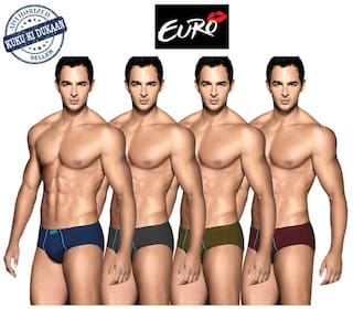 Euro Briefs - Multi ,Pack of 4