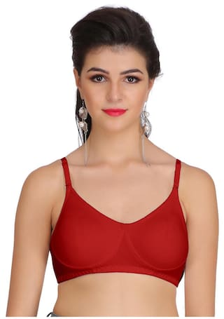 f8553ec5fa154 Buy Eve s Beauty 1 Non-padded Cotton T-shirt Bra - Maroon Online at ...
