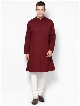 EVEN Men Maroon Regular Fit Kurta