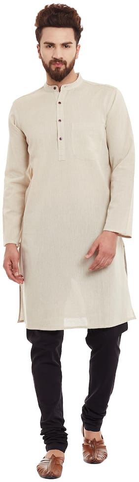 EVEN Men Beige Regular Fit Kurta