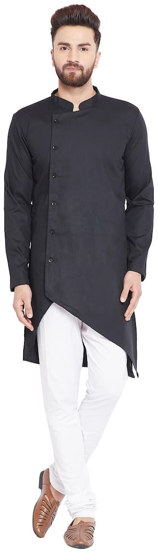 EVEN Men Black Regular Fit Kurta